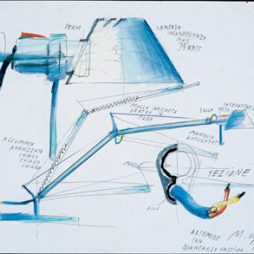 Artemide_Tolomeo_sketches_first+drawing